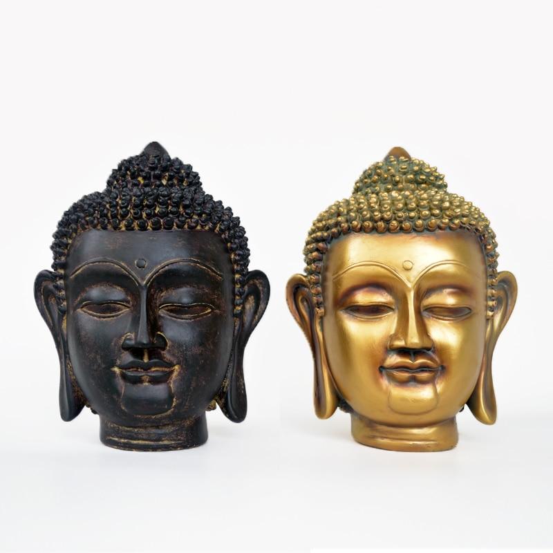 Resign Buddha statue monk figurine tathagata India Yoga Mandala tea pet Gold crafts decorative ornaments