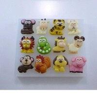 Festive Chinois zodiaque de bande dessinée à la main chocolat moule DIY doux mode tasse gâteau décoration moule détails