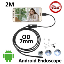 Android USB Camera 2M Micro USB Android Endoscope Camera 7mm len inspection Pipe IP67 Waterproof OTG USB Endoscope Camera 6LED