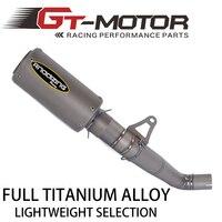GT Motor 61mm Titanium Alloy Slip On Motorcycle Exhaust Middle Link Pipe Titanium Alloy Muffler For HONDA CBR1000RR 2008 2016