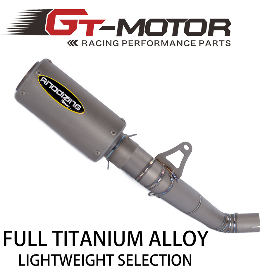 GT Motor - 61mm Titanium Alloy Slip On Motorcycle <font><b>Exhaust</b></font> Middle Link Pipe Titanium Alloy Muffler For HONDA <font><b>CBR1000RR</b></font> <font><b>2008</b></font>-2016 image
