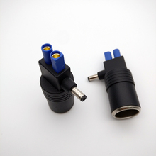 1Pcs DC 5.5 x 2.1mm Male To Car Cigarette Lighter Socket EC5 Female Connector Adapter