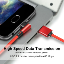 Coolreall 90 Degree Micro USB Cable Fast Charger Data Cable Braided USB Cable Mobile Phone USB Charger Cable For Samsung Huawei