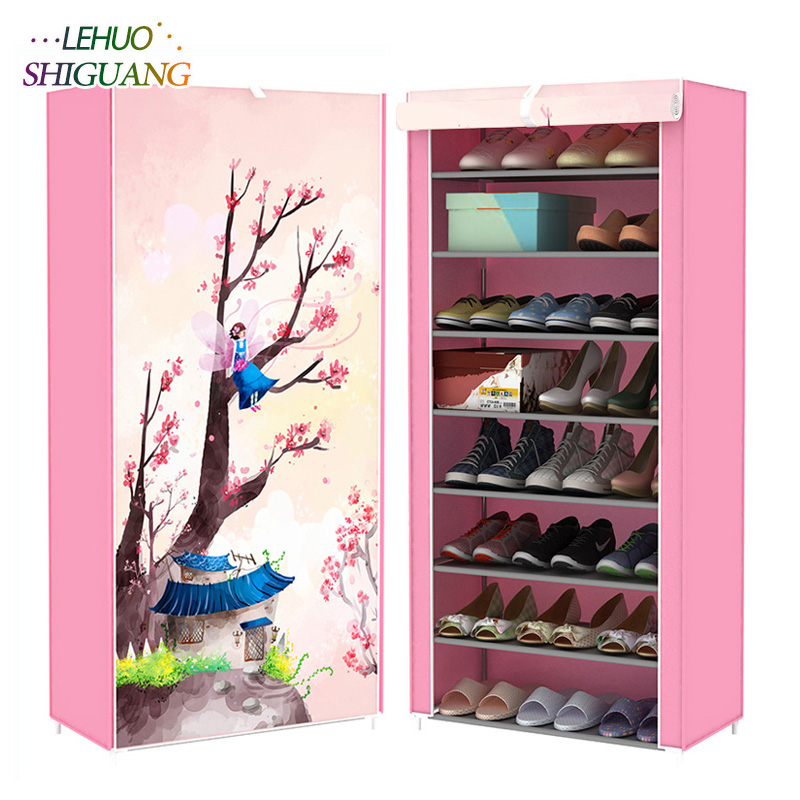 3D Landscape 9-layer 8-grid Shoe cabinet Non-woven fabrics large Shoe rack organizer removable shoe storage for home furniture non woven fabrics large shoe rack organizer removable shoe storage for home furniture shoe cabinet