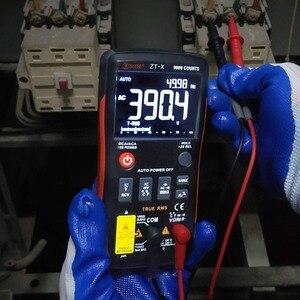 Image 4 - Bside ZT X true rms multímetro digital 3 line triple display 9999 contagens ac/dc tensão temperatura capacitância tester dmm zt301
