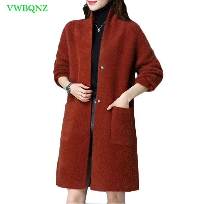 Pure Mink Cashmere Casual Cardigans moda Mink Cashmere mujeres abrigo señoras lana abrigo alta calidad nuevas mujeres mezclas abrigos 798-in Lana y mezclas from Ropa de mujer    1