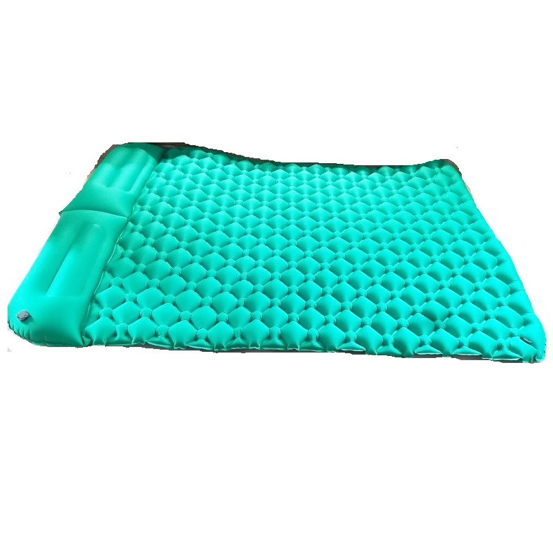 Outdoor 2person Camping Mat TPU Camping Bed Inflatable Air Mattress Tent Bed Inflatable Cushion Sleeping Pad Air Bed SleepingMat durable thicken pvc car travel inflatable bed automotive air mattress camping mat with air pump