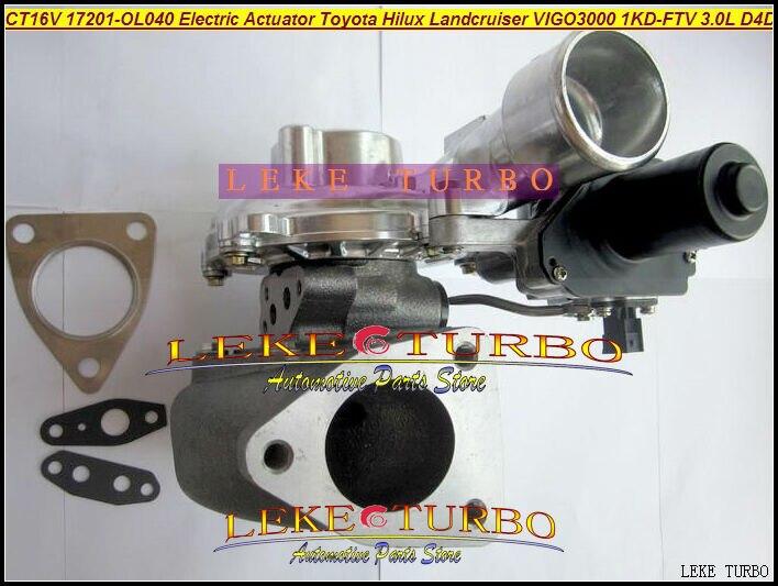 Free Ship CT16V 17201-OL040 17201-30110 Electric Actuator Turbo Turbocharger For TOYOTA Landcruiser Hilux SW4 D4D 1KD-FTV 3.0L free ship turbo cartridge chra ct16v 17201 ol040 17201 30110 turbocharger for toyota landcruiser hilux viigo 3000 1kd ftv 3 0l d