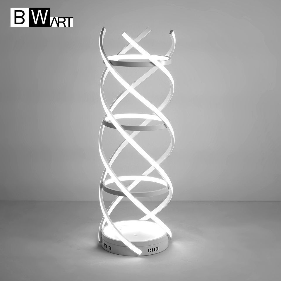 BWART modern white Led Floor Lamp Aluminum braid Floor Light For Living room hotel lobby porch decoration Celebration wedding great holiday light hotel wedding celebration decoration 3 6m red led lamp h276