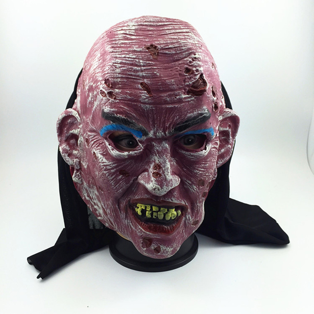 hot sales scary zombie party latex masks adult full head face breathable halloween mask cosplay prop