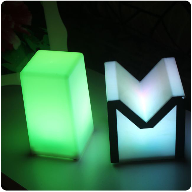 Night club outdoor decoration party LED cube LED bar table lamp light Lumineux Lampe design for bar furniture Free Shipping 3pcs free shipping remote control colorful modern minimalist led pyramid light of decoration led night lamp for christmas gifts