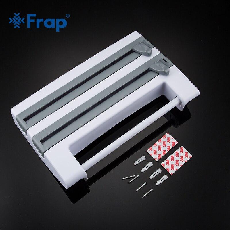Frap Kitchen Racks Refrigerator Cling Film Storage Rack Wrap Cutter Wall Hanging Paper Towel Holder Kitchen Organizer Y14018/-1 6