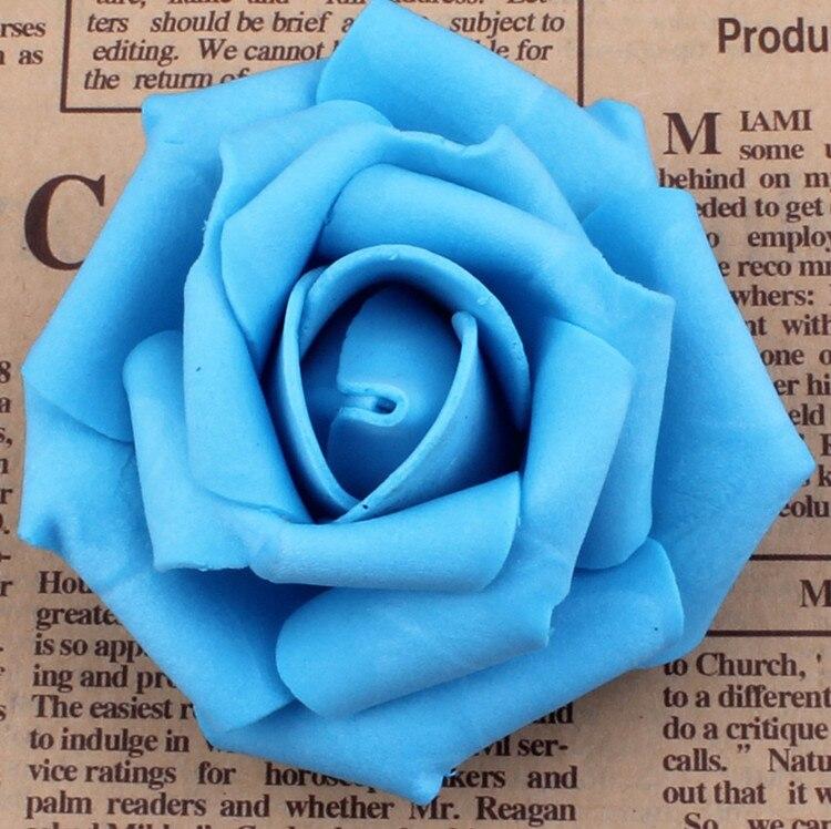 100 unids / lote 7 cm Espuma Artificial Rose Heads Real Touch DIY - Para fiestas y celebraciones - foto 5