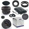 Nueva cámara 25mm f/1.4 mirroless para samsung nx cámara aps-c para pentax q + c-pq adaptador de la lente + parasol + macro ring * 2 + p/q tapa de la lente trasera