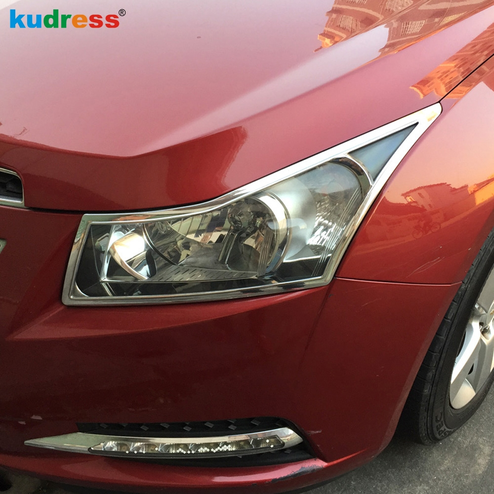 Car Styling For Chevrolet Cruze 2009 2010 2011 2012 2013 2014 ABS Chrome Plastic Headlight Cover Rear Lamp Trim Auto Accessories jgrt chrome rear window wiper cover trim for 2013 2014 2015 frod escape kuga new high quality chrome stickers trim car styling c