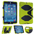 3 in 1 Hybrid Plastic+Silicon Heavy Duty Shockproof Dual Layer Rugged Military Armor Back Cover Case For iPad Air 1 ipad 5 Coque