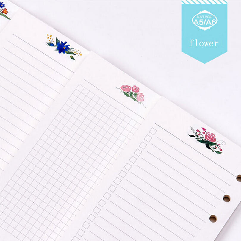 Dokibook Colorful Flower Notebook Papers A5 A6 Pages Planner Filler ...