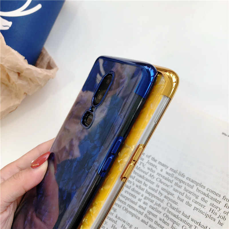 Bling Caso di Marmo Per Uno Più 6 5 t iphone X 6 6 s 7 8 Più Della Copertura Del Silicone di Scintillio frame + Trasparente Morbido Borsette TPU Del Telefono Custodie
