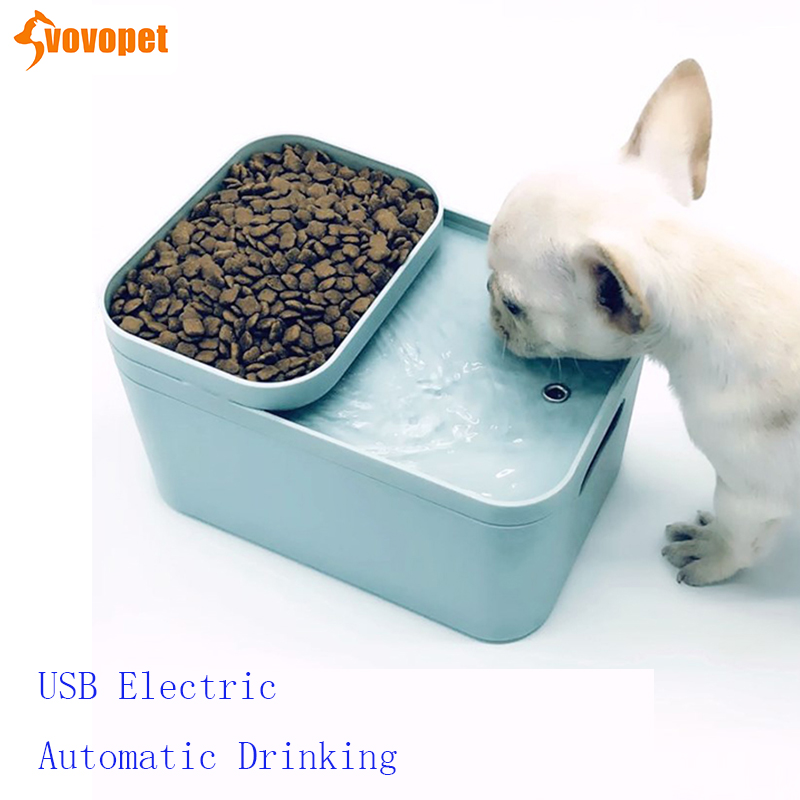 VOVOPET 2L Cat Dog Automatic Feeders Fountain Filters Auto Cycle USB Electric Pet Water Dispenser Drinking Bowls