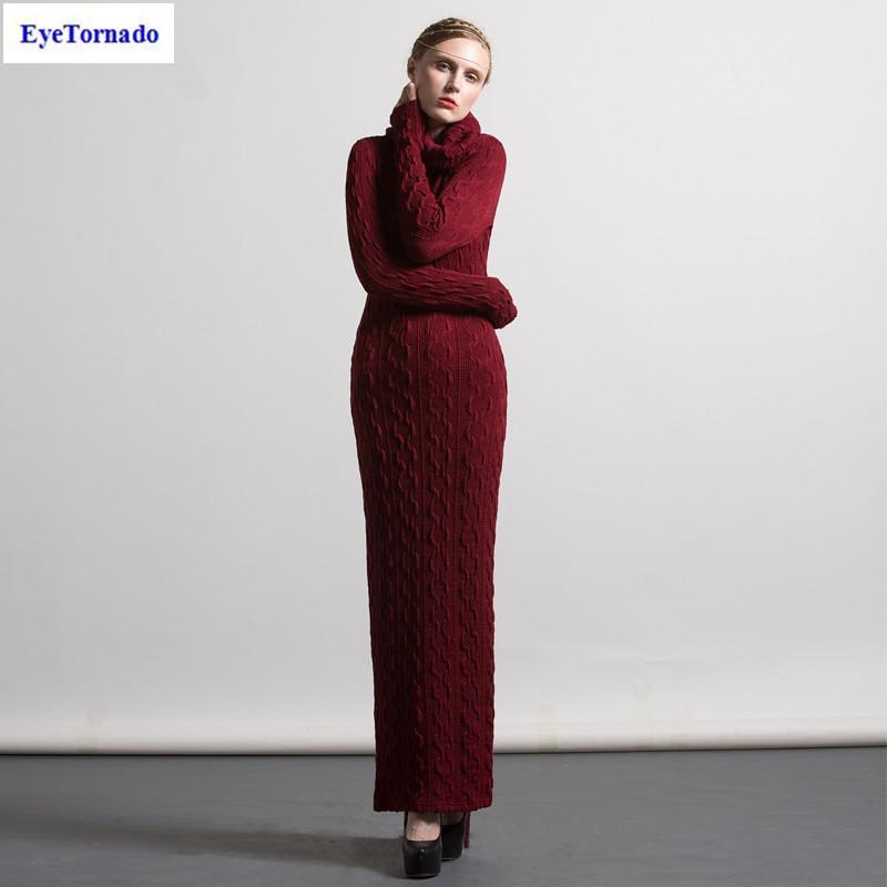 Plus size Women knitted sweater pullover dress autumn casual work sexy bodycon pencil maxi dresses jersey vestido S-4XL 7079 s 4xl plus size women pencil dress 2016 fashion striped knee length autumn dresses