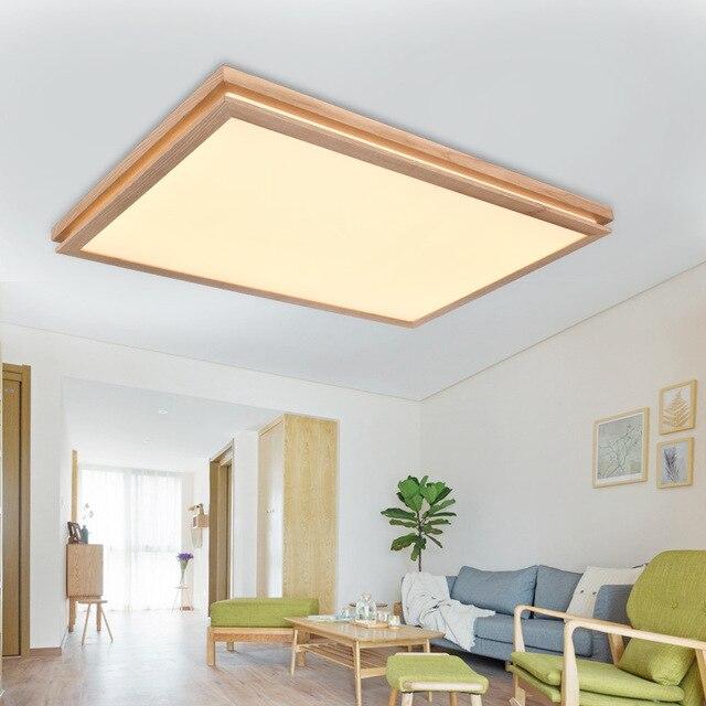 Solido Legno semplice e moderno, lampada creativa soggiorno led ...