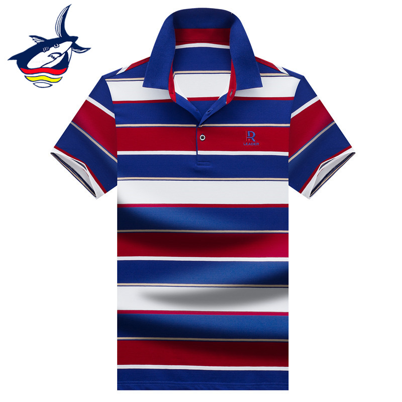 European Style Business men's   polo   shirt High Quality 3D Embroidery Cotton Classic Striped   Polo   Shirt Men Summer 2019 Menswear