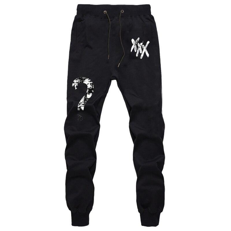New Rapper Xxxtentacion Pants Summer Fall Casual Trousers Straight Pants Sweatpants Harem Pants Cartoon Mens Jogger Pants