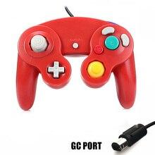 Игра Шок Вибрация джойстика для Ninten GameCube контроллер для Pad два интерфейса многоцветной дополнительный геймпад для wii