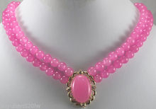 natural women 2 rows Pink gem Pendant Necklace Fine Bridal wide watch wings queen