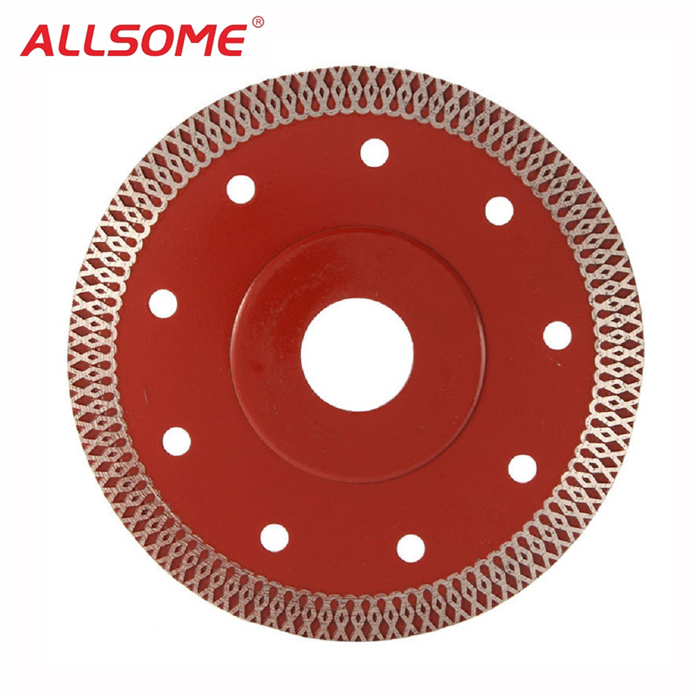 ALLSOME 115mm Super Thin Diamond Saw Blade 1.5mm Thickness Cutting Disc For Ceramic Porcelain HT2316
