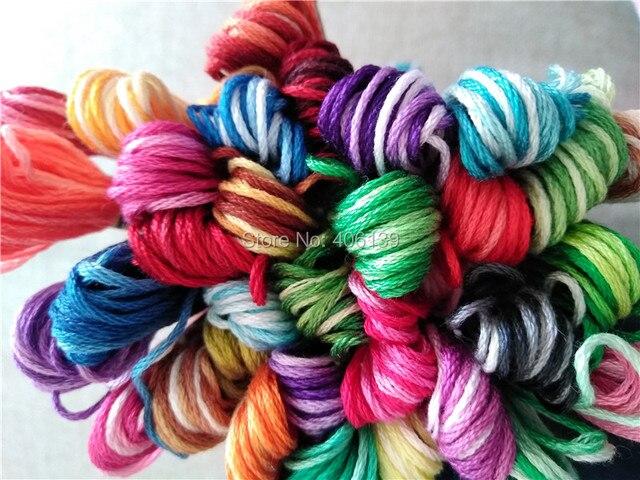 Envío libre KingClouds variación de color abigarrado hilo de algodón ...