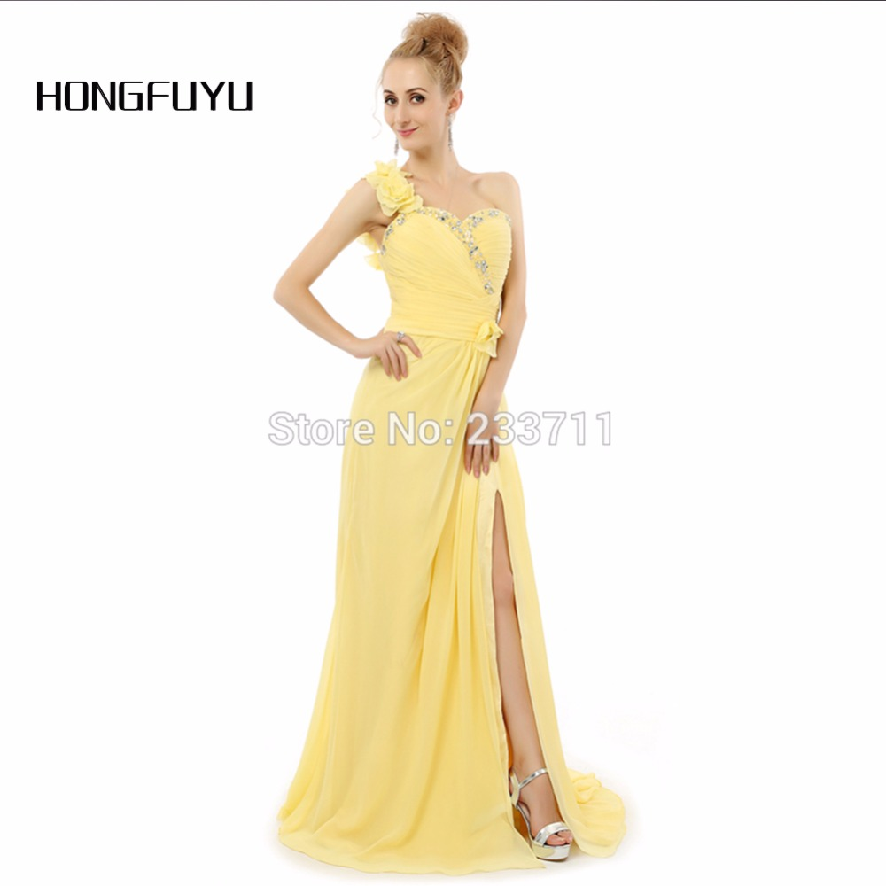 Online get cheap formal evening maternity dress aliexpress hongfuyu chiffon a line split one shoulder long beaded formal maternity yellow evening dresses 2016 backless ombrellifo Images