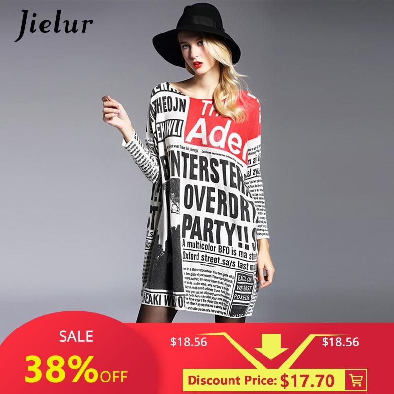 2019 herfst nieuwe mode lange oversized trui casual brief afdrukken vrouwen truien truien cool batwing mouw vrouwelijke pullover
