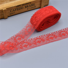 10 Yards High Quality Beautiful White Lace Ribbon Tape 40MM Lace Trim DIY Embroidered For Sewing Decoration african lace fabric