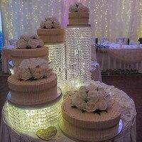 4pcs/Lot Diameter:20/25/30/35 High Grade Beautiful Crystal Cake Stand Centerpiece Wedding Cake Display Birthday Decoration