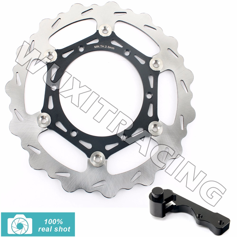 Oversize 270MM Front Brake Disc Rotor Bracket Adaptor for SUZUKI RM 125 250 RM125 RM250 96-12 DRZ 400 S E 00-09 01 02 03 04 2005 fit for rm 125 00 09 rm250 00 01 02 03 04 05 06 07 08 09 10 11 12 front rear brake disc rotor bracket bracket oversize 320mm