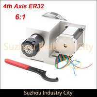 ER32 Chunk CNC 4th Axis CNC dividing head/Rotation Axis/A axis kit for Mini CNC router/engraver woodworking engraving machine