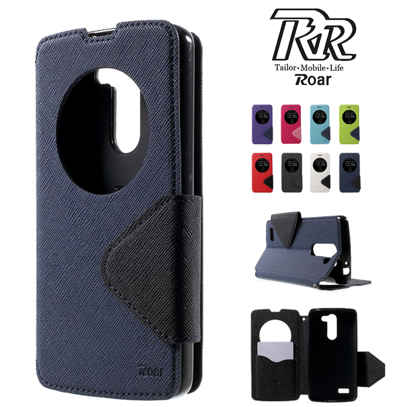 For LG L Bello Case Roar Korea Diary Circle Window Stand Flip Leather Wallet Case Phone Back Cover for LG Bello D331 D335 D337
