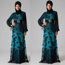 Arabic Formal Evening Gowns 2016 Evening Dresses Long Lace With Wrap Hijab Dress Party Evening Elegant For Islamic Muslim