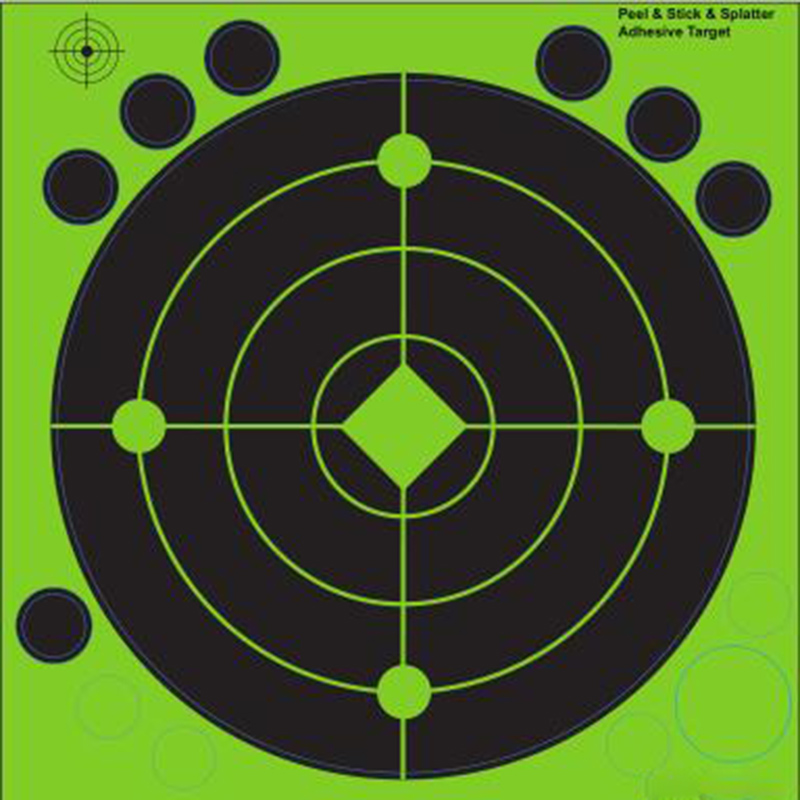 Stick and Splatter Adhesive Shooting Targets -Instantly See Your Shots Burst Bright Fluorescent Green
