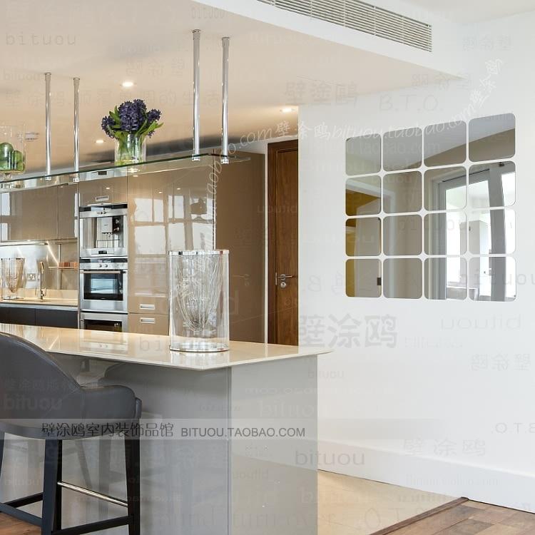177 ikea diy 3d vinylacryl spiegelwand aufkleber wohnkultur art ...