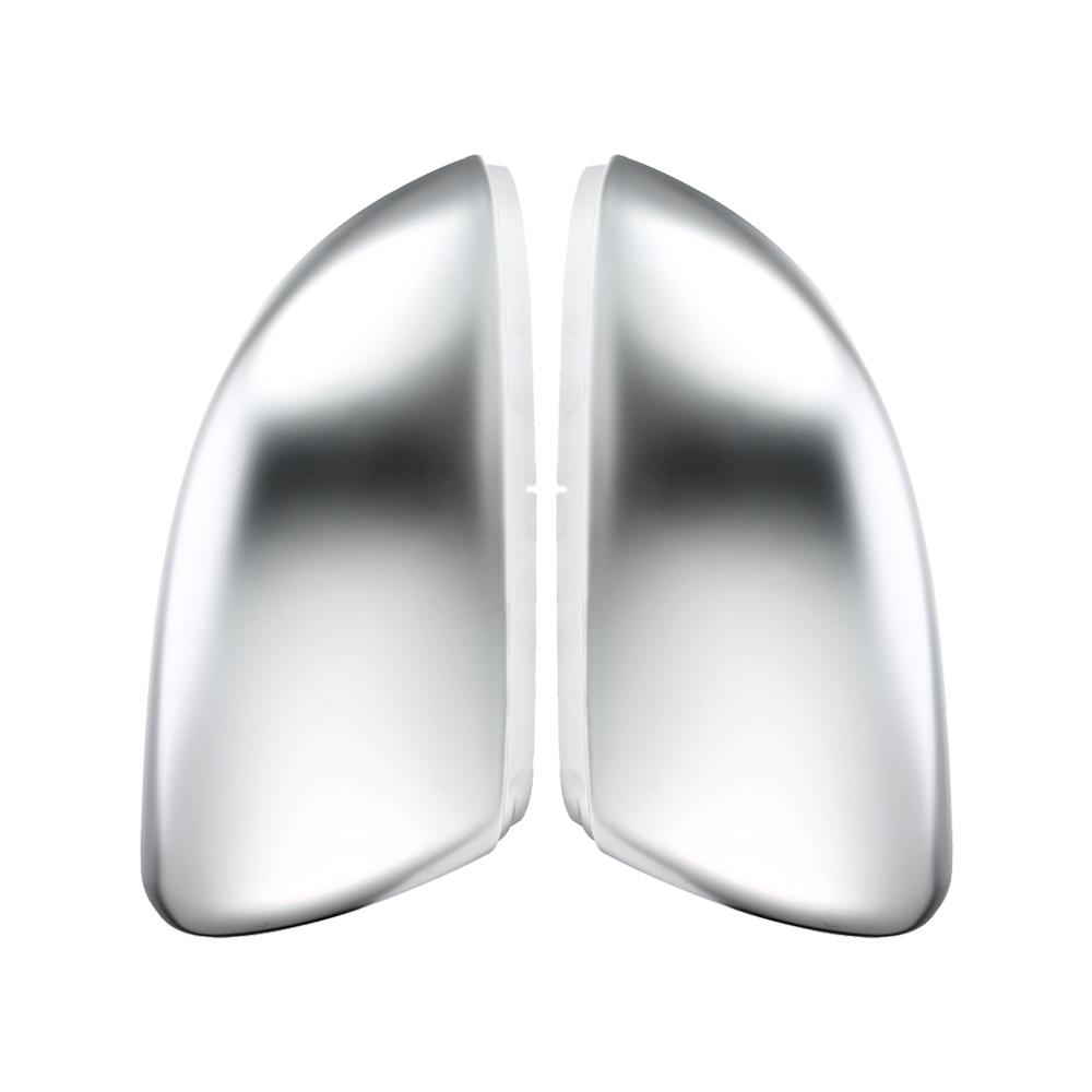 2 pieces For VW Golf MK7 7.5 GTI MK6 6 7 R R20 Side Wing Mirror Covers Caps Silver Matt chrome Brushed Aluminum2 pieces For VW Golf MK7 7.5 GTI MK6 6 7 R R20 Side Wing Mirror Covers Caps Silver Matt chrome Brushed Aluminum