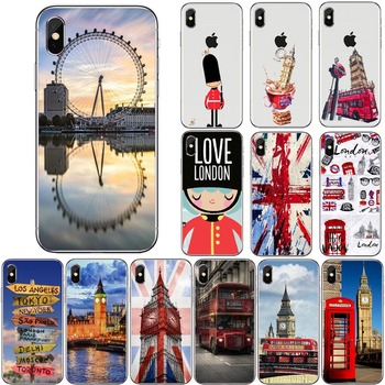 Autobús de Londres Inglaterra teléfono Big Ben de teléfono TPU suave funda para iPhone 11 11Pro MAX 8 7 6 6S Plus X XS X MAX 5 5S SE XR 10 cubierta Capa