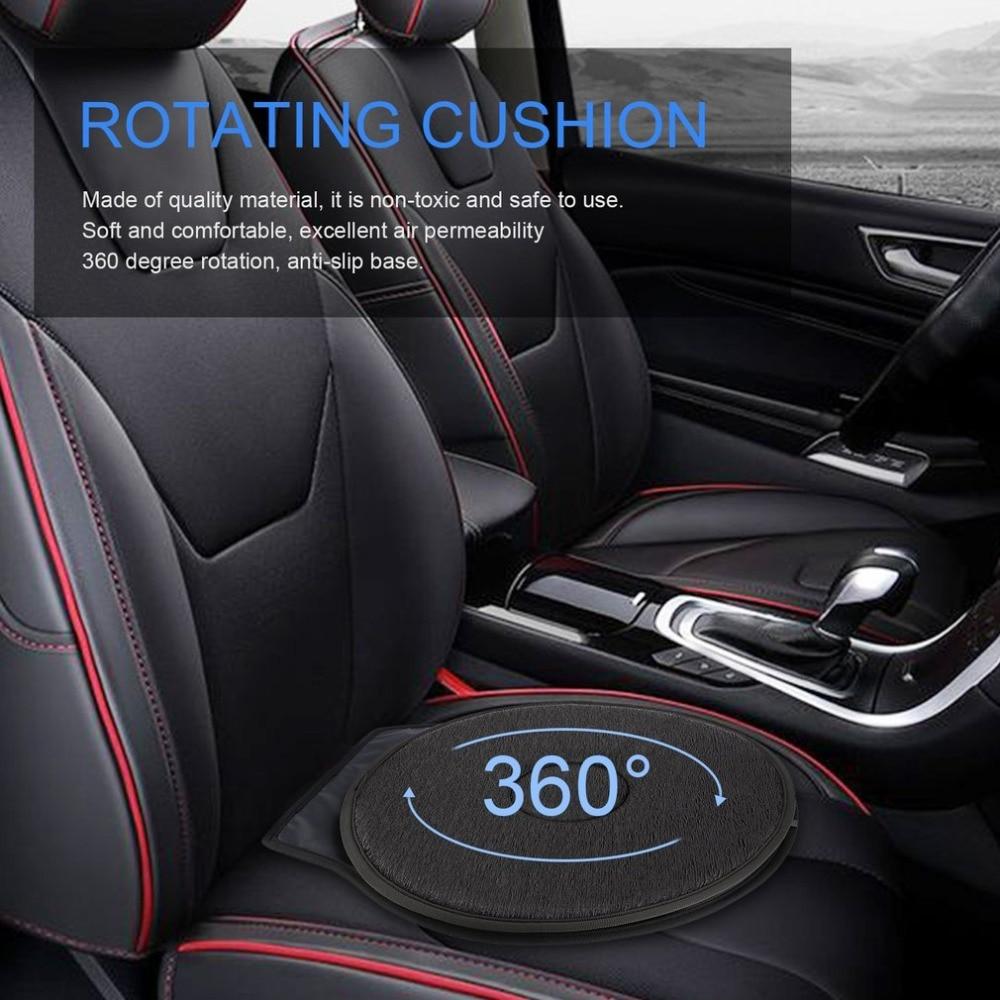 2Pcs Non Slip Car Seat Revolving Rotating Cushion Swivel Foam Mobility Aid In