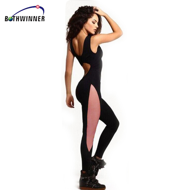 4851462e01 Bothwinner Elasticity Fitness Jumpsuit   Rompers 2017 Skinny Bodysuit  Fashion Bandage Slim Playsuit Women Plus Size Macacao