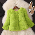 Wave cut real fur short women's full pelt rabbit fur coat outerwear women jacket 2017 new fashion autumn winter free shipping