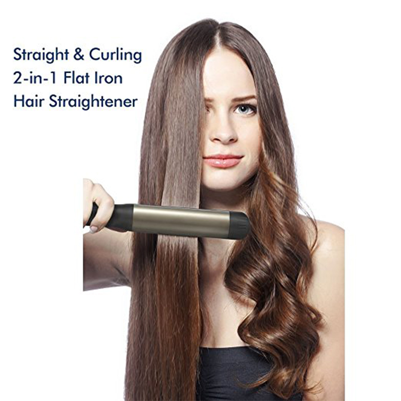 Professional Hair Straightener Hair Straightening Iron Hair flat iron and Curling iron Straight and Curl Styling tools
