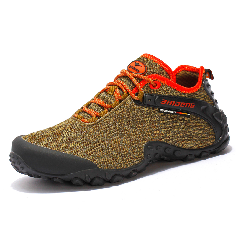 Brand Sneakers Outdoor Sport Shoes Men Tactical Hiking Shoe Walking 2017 New Summer Breathable Mesh Mountain Climbing Shoe Khaki hot ladies camo lace up high top sport travel outdoor sneakers waterproof breathable mesh tactical climbing hiking shoes women