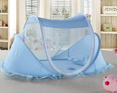 Infant Mosquito Net Baby Mosquito Net Newborn Mosquito Net 2 Colors Cotton-padded Mattress Summer Sleeping Creative Gifts Baby Crib Netting