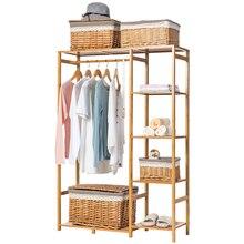 טבע Baboom ארון משולב Burlywood אחסון מתלה Orgnizer גדול קיבולת בגדי קולב מעיל בית ריהוט